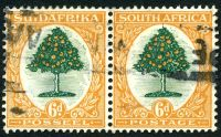 Lot 13466:1926-27 Pictorials SG #32 6d green & orange horizontal pair.