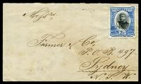 Lot 3564 [1 of 2]:1898 commercial cover to Sydney with 2½d blue (SG 43) affixed but not cancelled and fine backstamp Sydney JY25/98.