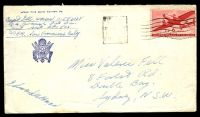 Lot 2620:1940s cover to Australia with USA 6c Air tied by Sydney machine cancel mailed from APO 503 Oro Bay.
