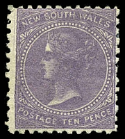 Lot 801:1867-93 DLR Wmk Single-Lined Numeral SG #206