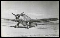 Lot 284 [1 of 2]:Aircraft: Black & white PPC 'North American O-47', real photo.
