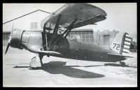 Lot 282 [1 of 2]:Aircraft: Black & white PPC Bi-Plane 'Curtiss Raven', real photo.