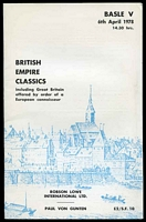 Lot 33:British Empire: Robson Lowe International Basle V 1978 sale of classics with prices realised.