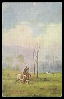 Lot 43:Australia - Artist: multicoloured PPC 'Rounding up a Straggler' by A MacInnes.