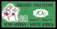 Lot 20:South Africa: 1963 10c Booklet of Christmas Seals issued to fight TB.