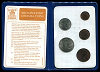 Lot 13 [2 of 2]:Great Britain: 1968-71 First Decimal coin wallet.