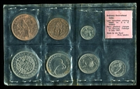 Lot 26 [2 of 2]:New Zealand: 1965 uncirculated set of 7 coins. (7)