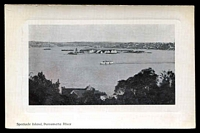 Lot 52:Australia - New South Wales: Black & white PPC 'Spectacle Island, Parramatta River', real photo.