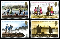 Lot 14718:1973 Return to Tristan SG #182-5 set (4)