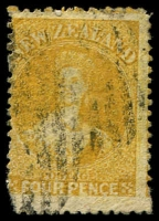 Lot 20001:1864-7 Wmk Large Star Perf 12½ SG #120 4d yellow.
