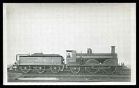 Lot 133:Trains: Locomotive LBSC 187 and tender on siding, real photo.