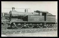 Lot 134:Trains: Locomotive Southern 1597 on siding, real photo.
