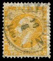 Lot 20364:1856-60 King Oscar I SG #4 2sk orange-yellow, Cat £150.