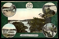 Lot 58:Australia - New South Wales: multicoloured PPC 'Lane Cove River', nice card.