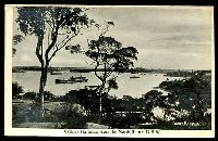 Lot 323:Australia - New South Wales: black & white PPC 'Sydney Harbour, from the North Shore, NSW', real photo.