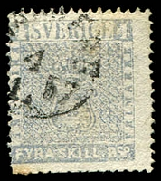 Lot 21214:1855-58 SG #2c 4sk grey-blue.