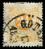 Lot 21221:1872 Perf 14 SG #23b 24o orange-yellow, Cat £50.