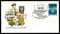 Lot 723:1983 125th Anniversary Australian Rules Football illustrated cover with adhesive tied by 125th Anniversary Australian Rules cancel Melbourne 10 July 1983, unaddressed.
