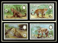 Lot 15660 [1 of 3]:1983 Jaguar SG #756-9 MUH set on WWF pages giving details of this threaten species comes together with set on WWF illustrated FDCs, unaddressed nice lot.