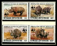 Lot 16158 [1 of 3]:1983 Black Rhinoceros MUH set on WWF pages giving details of this threaten species comes together with set on WWF illustrated FDCs, unaddressed nice lot.