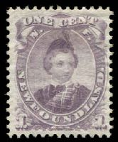 Lot 10482:1868 Prince of Wales SG #34 1c dull purple, MNG.