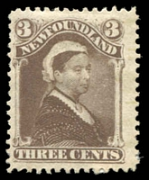Lot 10488:1887 New Colours and Values SG #52 3c deep brown QV.