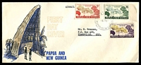 Lot 3149:1962 South Pacific Conference set tied to illustrated FDC by Lae cds 9JY 62.