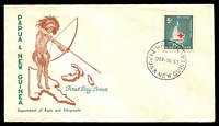 Lot 3146:1963 Red Cross 5d tied to illustrated FDC by Rabaul cds 1MY63, unaddressed.