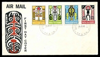Lot 15111:1966 Folklore set tied to illustrated FDC by Port Moresby cds 8JE66, unaddressed.