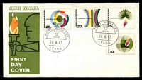 Lot 15114:1968 Human Rights set tied to illustrated FDC by Port Moresby cds 26 6 68, unaddressed.