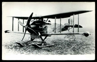 Lot 283:Aircraft: Black & white PPC of a Boeing MB3A, real photo.