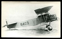 Lot 36:Aircraft: black & white PPC of a Fokker DY, real photo.
