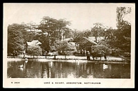 Lot 104:Great Britain: Black & white PPC 'Lake & Aviary, Arboretum, Nottingham', real photo.