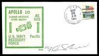 Lot 3586:1969 Apollo 10 illustrated cover signed by Astronaut Frank Mitchell.