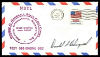 Lot 3587:1977 George C Marshall Space Flight Centre illustrated cover signed by Astronaut Donald Holmquest.