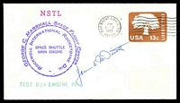 Lot 3588:1977 George C Marshall Space Flight Centre illustrated cover signed by Astronaut James McDivitt.