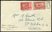 Lot 683:1932 Sydney Harbour Bridge Opening plain cover with 2d Typo and 2d Engraved Harbour Bridge adhesives tied by Sydney Harbour Bridge special cancel 19Mar1932.