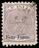 Lot 2818:1878-99 'CR' Altered to 'VR' Perf 10 SG #42