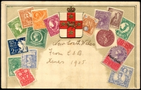 Lot 320:Australia - New South Wales: multi-coloured Embossed VSM Stamp card.