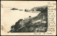 Lot 89 [1 of 2]:Australia - Victoria: Black & white PPC 'Rocks, Mouth of the Hopkins River' early card with undivided back used in 1904.