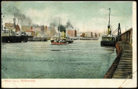 Lot 74 [1 of 2]:Australia - Victoria: Multicoloured PPC 'River Yarra, Melbourne' with shipping scene, few faults but nice card.