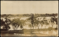 Lot 85 [1 of 2]:Australia - Victoria: Black & white PPC 'View of Lake Marma, Murtoa', real photo with Murtoa 849 Duplex of 1907