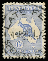 Lot 166:6d Blue BW #18