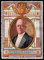 Lot 11:Great Britain: c.1916 Multicoloured label with portrait of Rt Hon HH Asquith issued for Lord Roberts Memorial Fund.