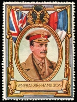 Lot 12:Great Britain: c.1916 Multicoloured label with portrait of General Sir I Hamilton issued for Lord Roberts Memorial Fund.