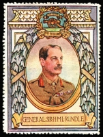 Lot 13:Great Britain: c.1916 Multicoloured label with portrait of General Sir HML Rundle issued for Lord Roberts Memorial Fund.
