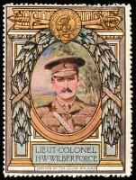 Lot 14:Great Britain: c.1916 Multicoloured label with portrait of Lieut Colonel HW Wilberforce issued for Lord Roberts Memorial Fund.