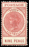 Lot 1403:1904-11 Thick 'POSTAGE' Wmk Crown/SA (Close) Perf 12 SG #286