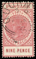 Lot 1404:1904-11 Thick 'POSTAGE' Wmk Crown/SA (Close) Perf 12 SG #286