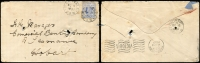Lot 919 [1 of 4]:Selection [1] 'MARYVALE/OC11/1907' cds x2 on Tatts cover; [2] fine 'MIRANDA/DE23/1909' cds on PPC; [3] 'MOGO/OC3/1907' cds x2 on Tatts cover; [4] PERRICOOTA/OC 19/1907' two fine strikes on cover to Tasmania; [5] 'SOUTH WEST ROCKS/'JA 4/1906' cds used as receiving cancel on PPC; some minor blemishes. (5)